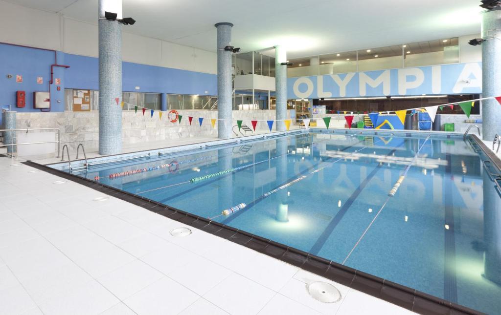 indoor Olympic lap pool