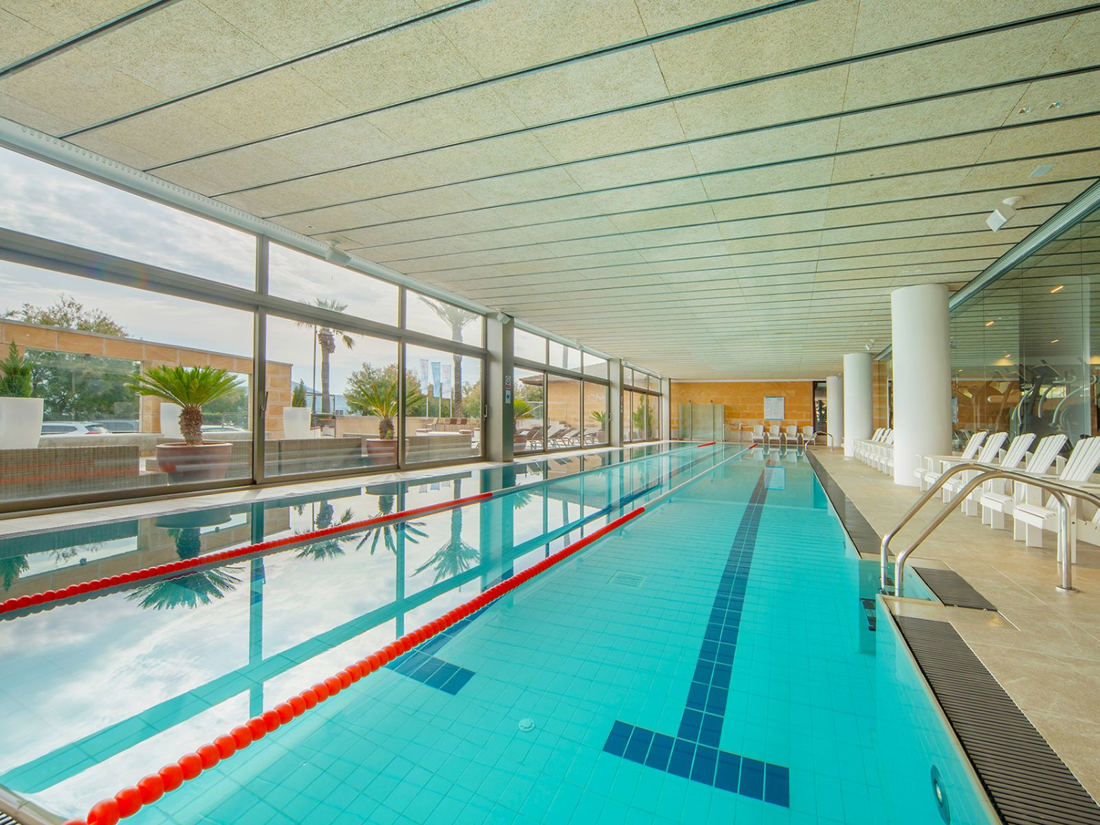 hotel with indoor heated lap pool